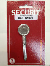 Security Bolt Star Key S1069 Metal NEW fits Chubb Door Rack Bolts S1069