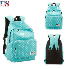 US Lightweight Women Girl Canvas Shoulder Bag Handbag Bookbag Backpack Xmas Blue