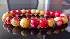 "Sweet Chili Gemstone bead bracelet for Men Stretch 10mm - 8.25"" inch Multicolor"