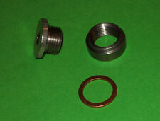 O2 BUNG KIT show quality MILD STEEL BUNG & STAINLESS STEEL PLUG+SEALING WASHER