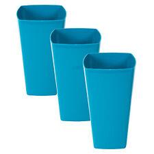 3 x 29cm Blue Square INDOOR PIANTE VASI DI FIORI VASI copre fioriere vasche