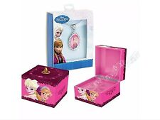 NWT Disney Frozen Anna & Elsa Music Box With Anna Pendant Necklace