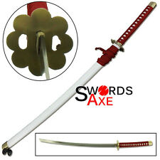 Bleach Anime Sword Kusajishi Yachiru Zanpakto Wheels Red Nylon White Saya Katana