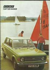 FIAT 128 Special Car Brochure SALOON, ESTATE, RALLY E 1300 COUPE 1973 1974