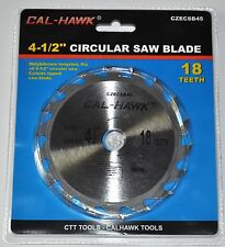 "4-1/2"" Inch Circular Circle Saw Blade 18 Teeth Carbide Tipped 5/8"" Arbor Wood"