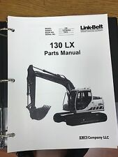 LINK BELT 130 LX EXCAVATOR PARTS MANUAL BINDER