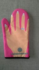 Oven Mitt/Glove Pink with Picture of Hand Ring & Bracelet Great for Summer BBQs