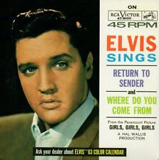 ★☆★ CD Single Elvis PRESLEY  Soundtrack Girls Girls Girls Return To Sender  ★☆★