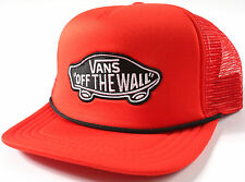Vans CLASSIC PATCH Red TRUCKER Hat-NEW-skate/surf/skateboard cap-