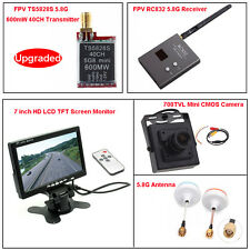 5.8GHz TS5828S FPV AV Transmitter+RC832 Receiver+7inch HD LCD+Camera+Antenna Kit