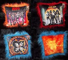 KISS OFFICIAL LP RECORD ALBUM 14X14 THROW PILLOW COLLECTORS SET NEW w/ TAGS