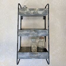 Industrial Style Metal Wall Shelves Storage Rack Vintage Shelf Unit Cabinet