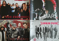Rock Bands 30 Seconds to Mars*Limp Bizkit*Foo Fighter*Linkin Park + Extra