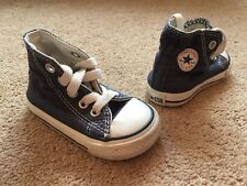 All Stars Converse High Top Pumps Trainers Shoes Navy Blue Canvas Uk Infant 3
