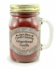 Gingerbread Vanilla Scented Mason Jar Candle by Our Own Candle Company