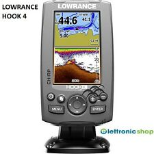 LOWRANCE HOOK 4 COMBO ECO CHIRP/PLOTTER GPS + TRASD. 83/200/455/800Khz DOWNSCAN