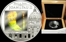 2011 Andorra Large  Silver Hologram 5 D Pope John Paul II/St.Peter Cathedral/BOX