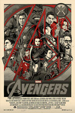 SOUGHT-AFTER! Tyler Stout 1st AVENGERS Art Print -  SIGNED Variant Lottery Edn