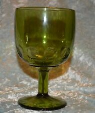 Heavy Thick Green hobnail Bubble Goblet Glass Wine Champagne Compote