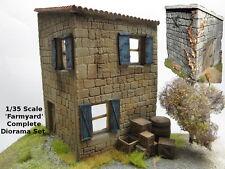 1/35 Scala 'Cortile' Completo Diorama Set di 2 costruzione+un sacco casse legno