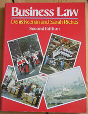 BUSINESS LAW, 2ND EDITION, DENIS KEENAN AND SARAH RICHES, STUDENT TEXT BOOK