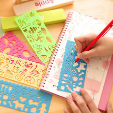 4PCS/Set Children Fun Plastic Drawing Template Spirograph Toy Stencil Ruler DIY