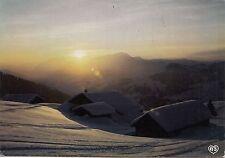 BF24626 montagnes en hiver soleil couchant sur le vill  france  front/back image