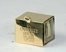 VINTAGE 1950'S 14K GOLD MAD MONEY CHARM IN CASE OF EMERGENCY BREAK GLASS
