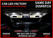 VW GOLF MK 4 GTI R32 TSI DTI SDI INTERIOR LED UPGRADE 11 BULB REPLACEMENT PACK