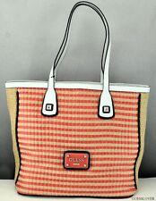 Free Ship USA Chic Handbag GUESS SATCHEL Havana Straw Ladies Tangerine Bag Love
