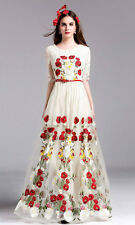 Party Wear White Nylon Net Anarkali Gown - FA418-6