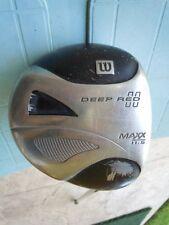Wilson Deep Red Maxx 11.5 Driver & Cover RH Reg Shaft ProLite 428 Lite GUC