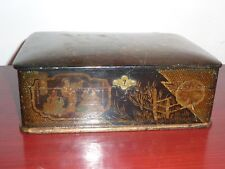 Antique Japanese Lacquer Box, circa 1900