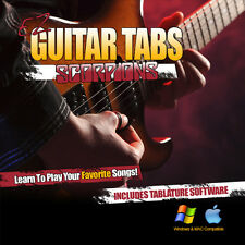 Guitar Lessons Scorpions Songs Learn How To play Tablature + Tab Software CD-R