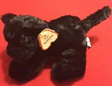 Aurora Stuffed Plush Black Panther Onyx New With Tags #16653 Mini Flopsie 8""
