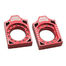 Tusk Aluminum Racing Axle Blocks Block Red CR125R CR250R CRF250R CRF450R CRF450X