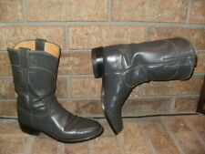 Justin Gray Leather Roper Boot Lady 5.5 C (Wide)/ L3056 Nice