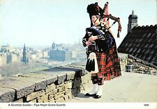 BR92147  scottish soldier pipe major guards types folklore costumes scotland