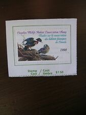 1990 Canadian Wildlife Habitat Conservation Stamp Used - Good Cond
