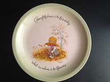 "Hollie Hobby Vintage 10"" Plate 1972 Exclusive ""Thoughtfulness is Friendship"""