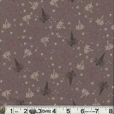 Lecien CANDY CANE ANGELS Stars Brown Fabric 1/2 yard by Lynette Anderson