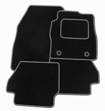 FIAT GRAND PUNTO 2006+ TAILORED CAR FLOOR MATS BLACK CARPET WITH GREY TRIM