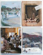 4 Christie's NY Art Auction Catalogs w/ American Artist Paintings 1997-2003 NR!