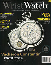 NEW! WRIST WATCH Issue #15 2015 Vacheron Constantin Iconic Dive Watches Sailing