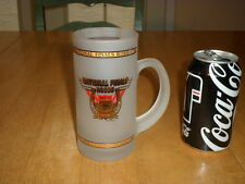 (NFR) NATIONAL FINALS RODEO, 1992 yr. LAS VEGAS, NEVADA, Frosted Glass Beer Mug