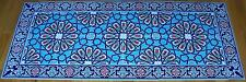 "56""x24"" Turkish Ottoman Iznik Tulip & Floral Pattern Ceramic Tile Panel Mural"