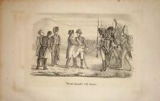 1846 NAPOLEONE VOI MI TORNATE SUL TRONO litografia Napoleon