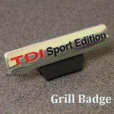 New TDI Sport Edition Grill Badge Emblem Logo Decal Sticker Front VW Audi Seat