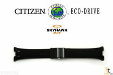Citizen Eco-Drive JR3155-03E Skyhawk 25mm Original Black Rubber Watch Band Strap