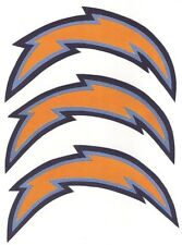 3 LARGE SAN DIEGO CHARGERS IRON-ON PATCHES 4.5 x 7